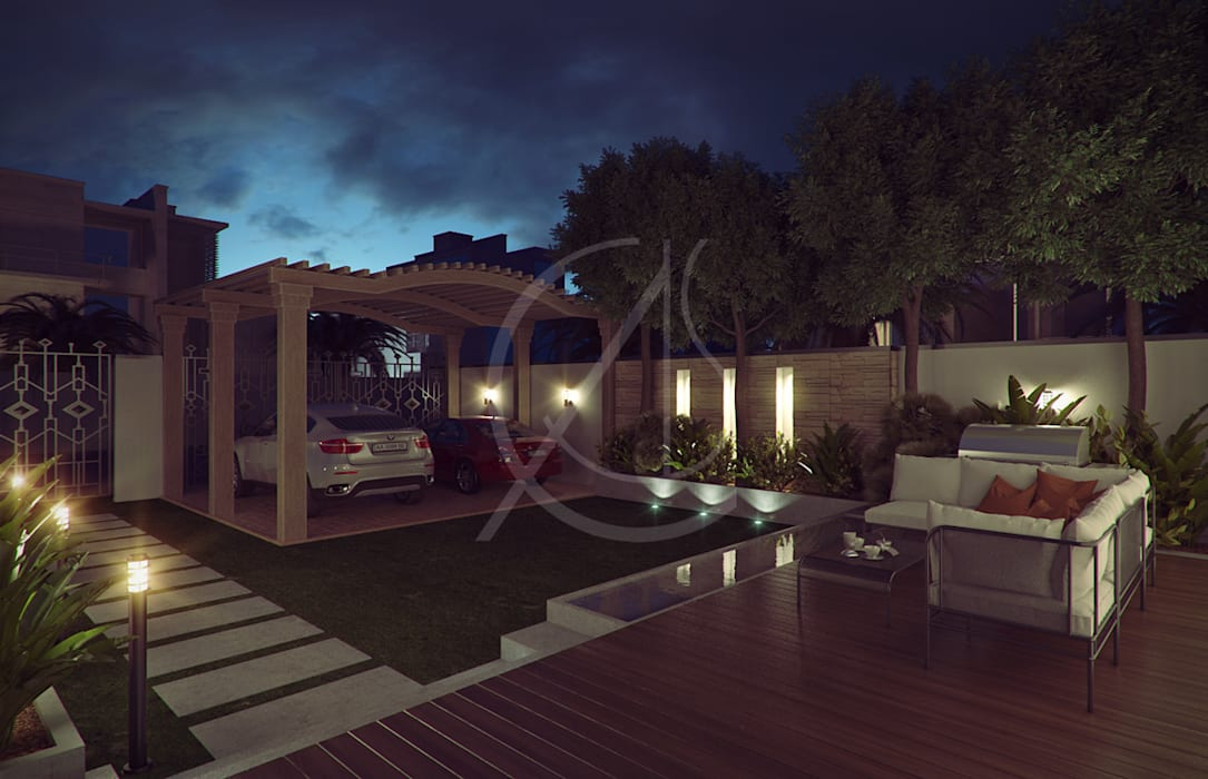 Front Yard:  Front garden by Comelite Architecture, Structure and Interior Design