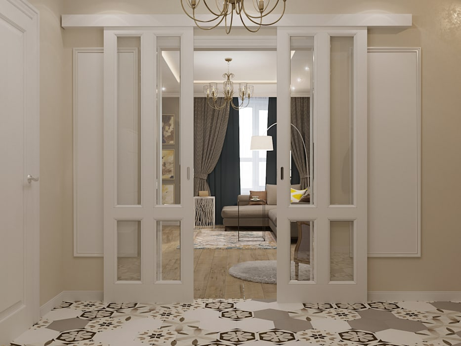 Classic style corridor, hallway and stairs by Reroom Classic