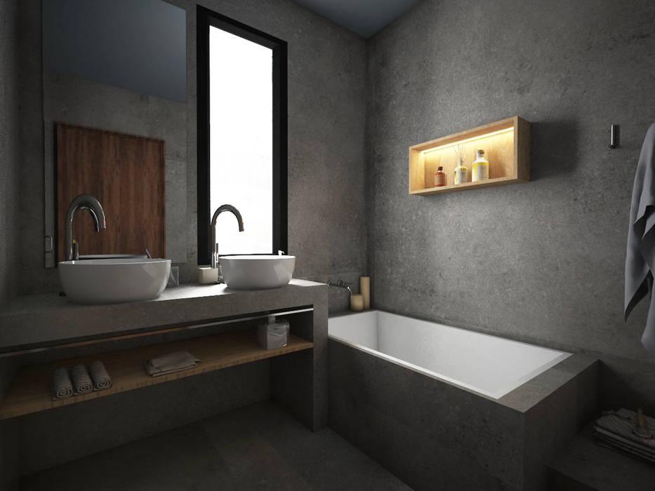 Bagno padronale: Bagno in stile in stile Tropicale di StudioExNovo