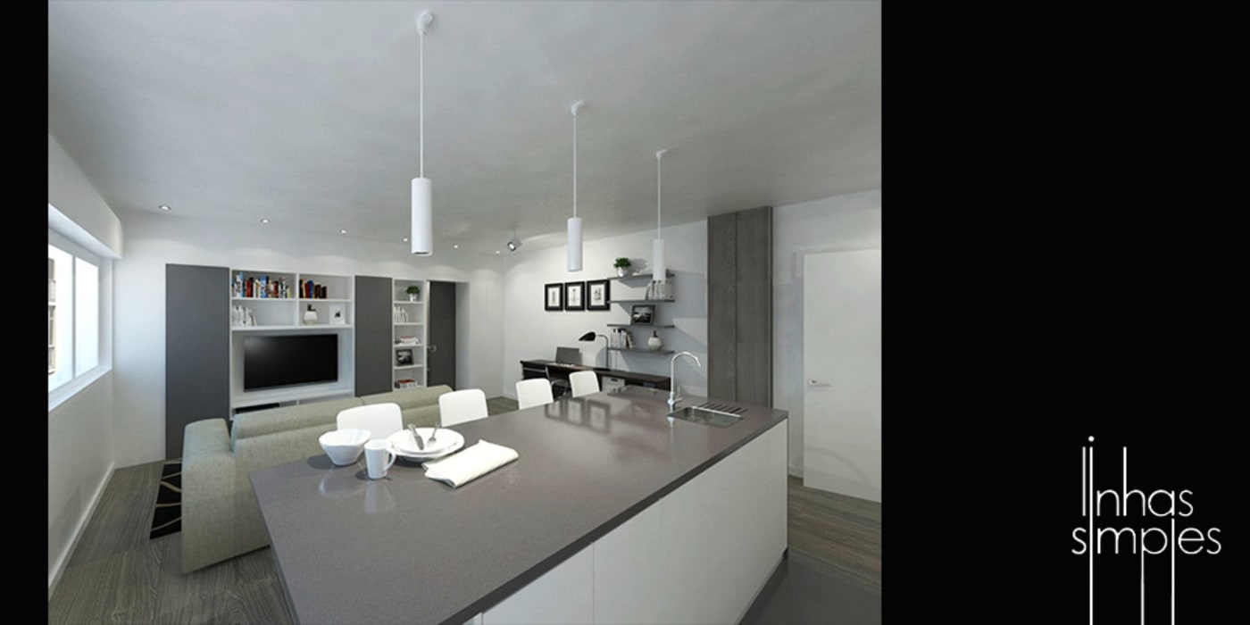 Kitchen units by Linhas Simples
