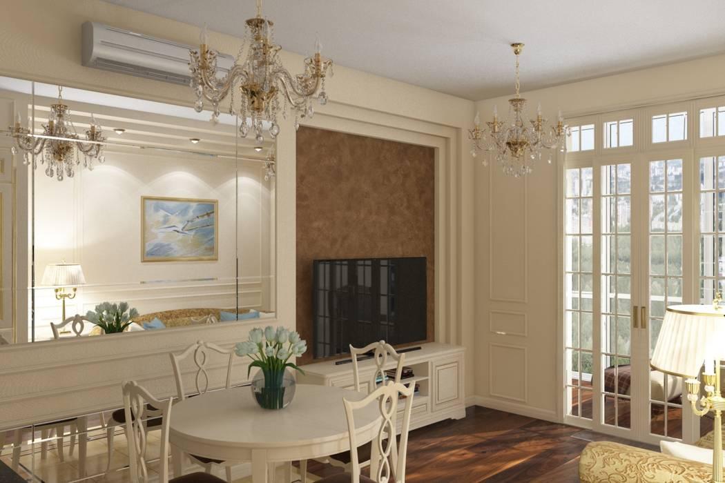 Гостиная: Гостиная в . Автор – МайАрт: ремонт и дизайн помещений, Классический