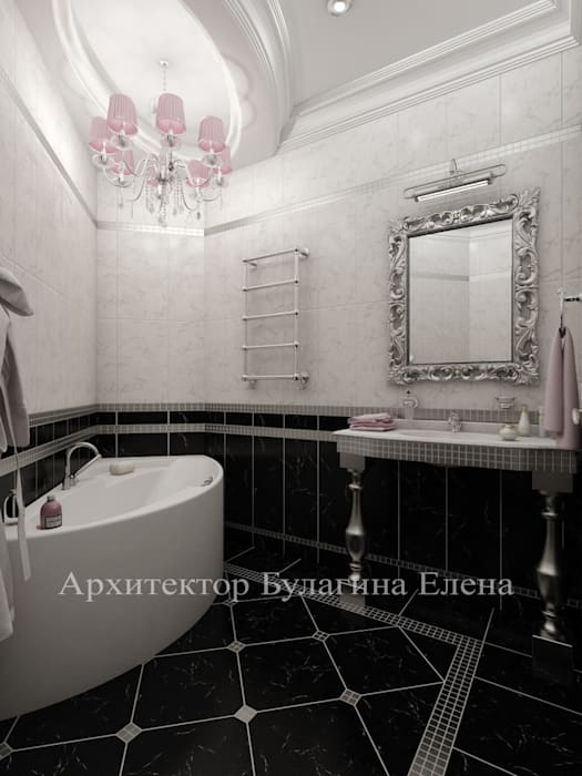 Ванная комната: Ванные комнаты в . Автор – Архитектурное Бюро 'Капитель'