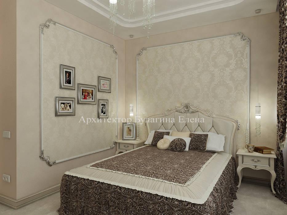 Интерьер спальни: Спальни в . Автор – Архитектурное Бюро 'Капитель'