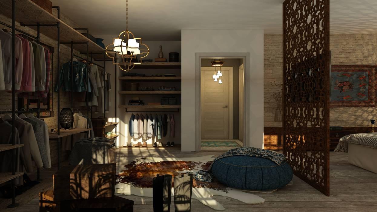 غرفة نوم تنفيذ ICONIC DESIGN STUDIO,