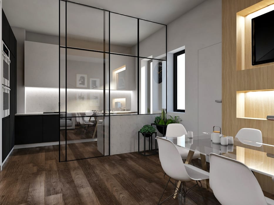 Cucina vetrata: Cucina in stile  di StudioExNovo