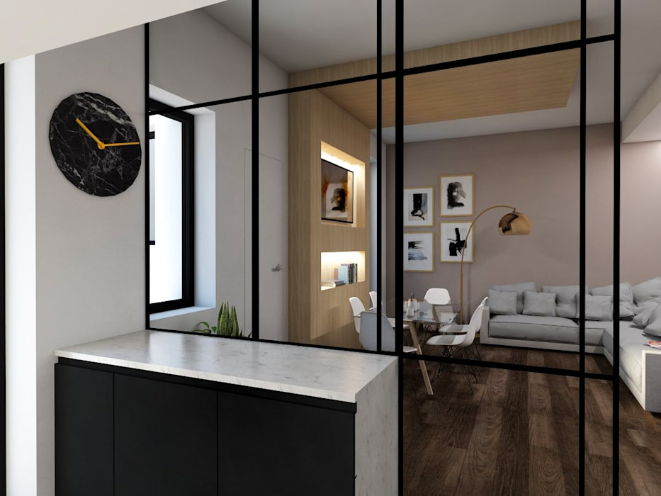 Vista dalla cucina: Cucina in stile in stile Moderno di StudioExNovo