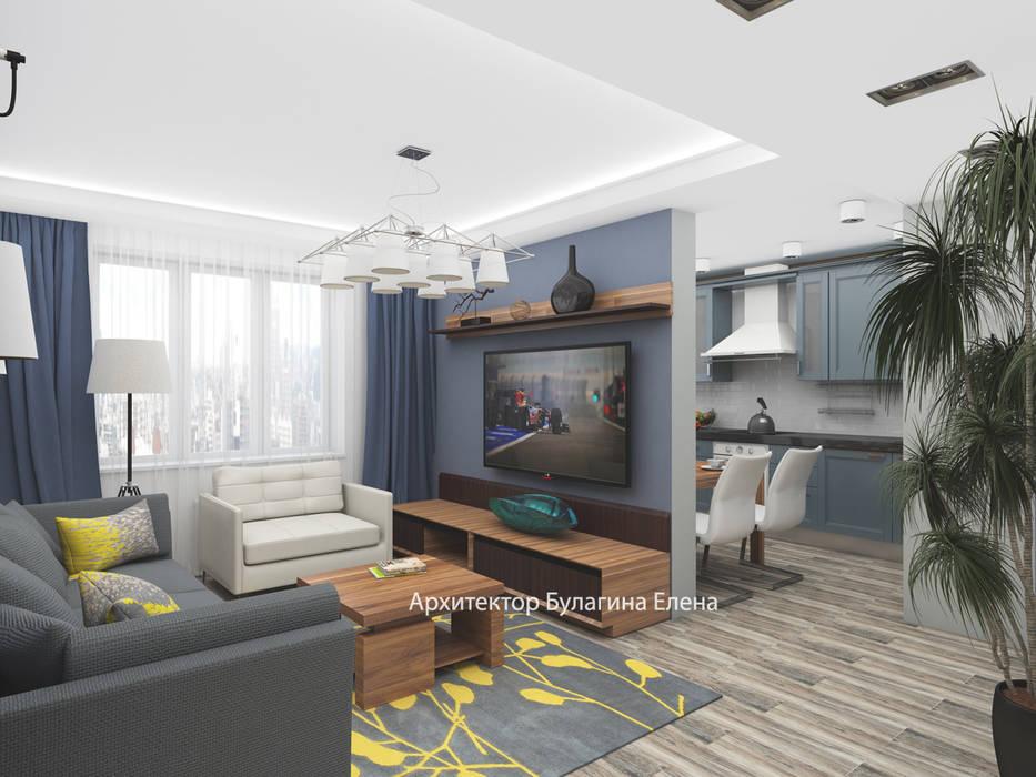 Гостиная: Гостиная в . Автор – Архитектурное Бюро 'Капитель'
