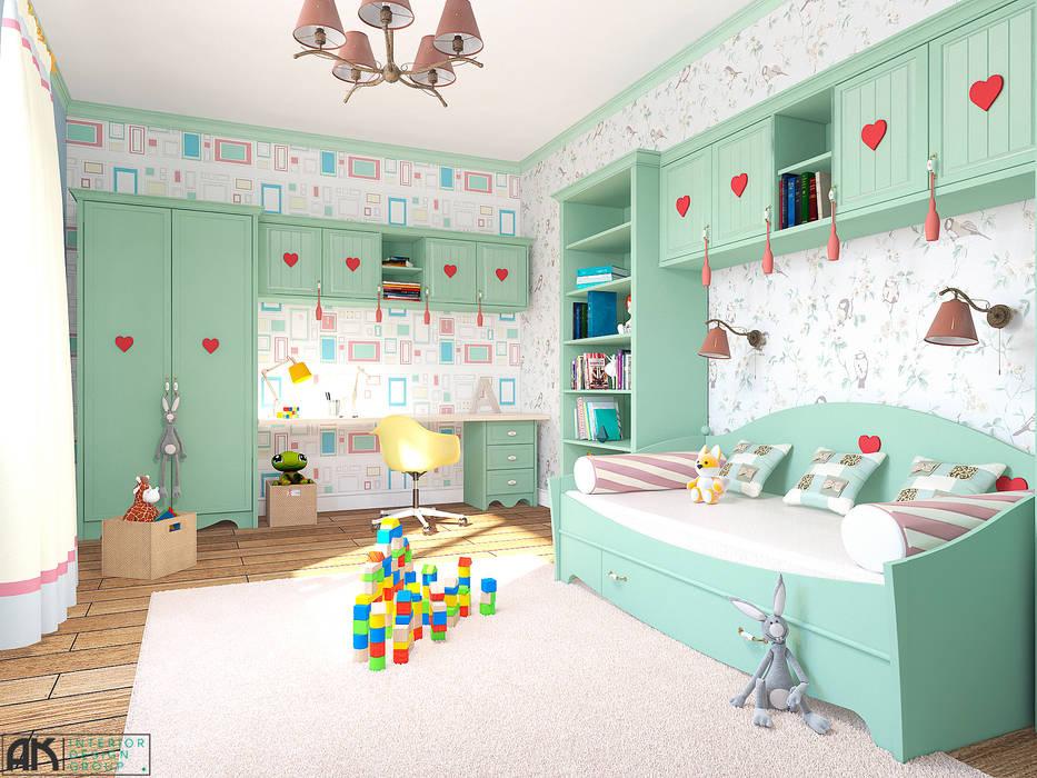 дизайнер Алина Куракова Спальня для дівчаток Різнокольорові