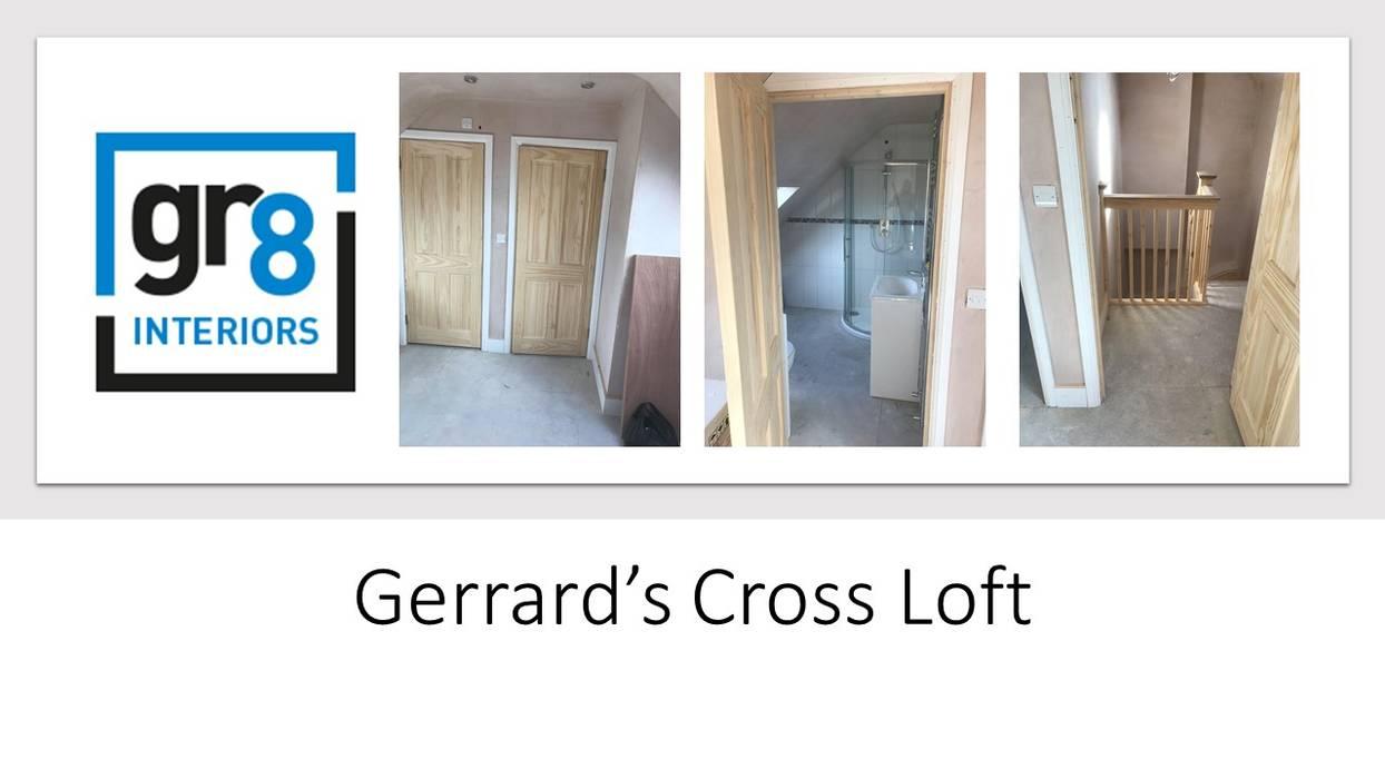 Gerrards Cross Loft:  Corridor & hallway by Gr8 Interiors Ltd