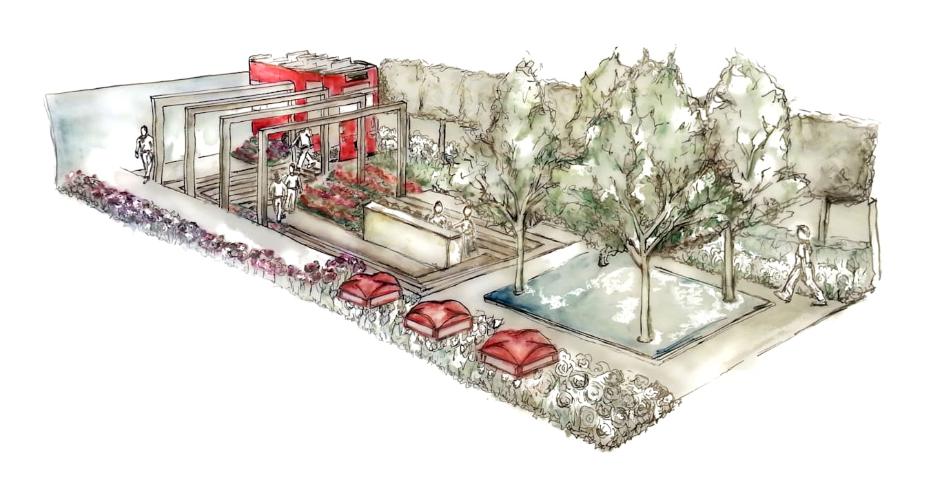 Iconic London Roof Terrace - RHS Chelsea Flower Show Concept:  Commercial Spaces by Aralia