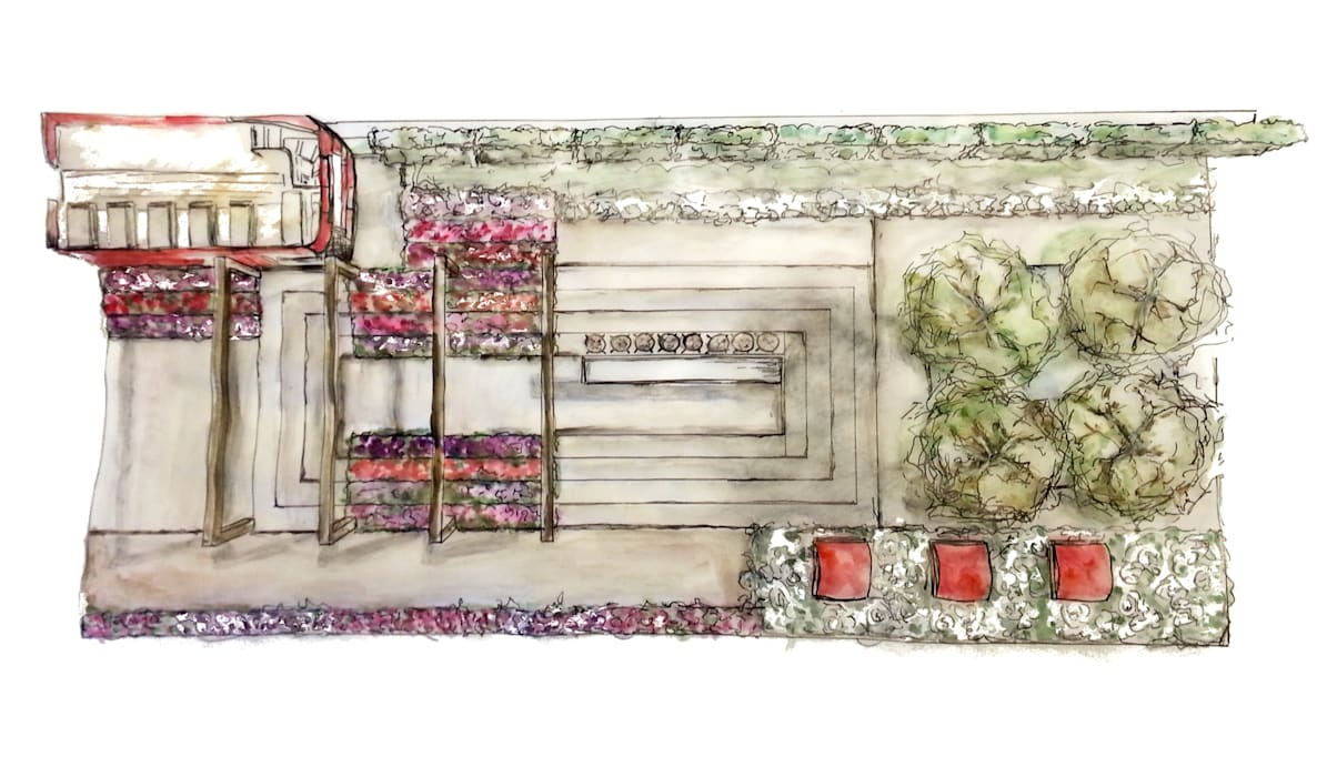 Iconic London Roof Terrace - RHS Chelsea Flower Show Concept:  Event venues by Aralia