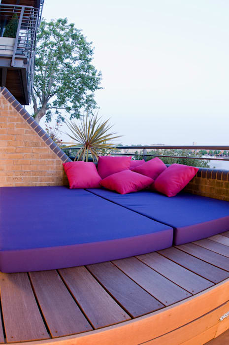Daybed with storage underneath:  Garden by Earth Designs