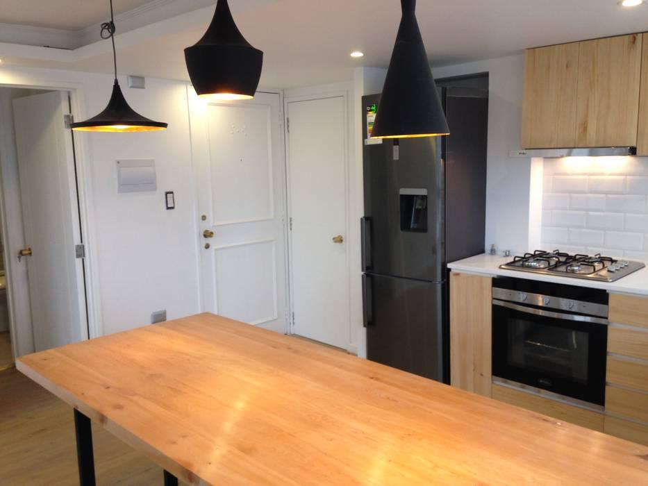 REMODELACION DEPTO PEÑA Y LILLO [ER+] Arquitectura y Construcción Cocinas de estilo escandinavo