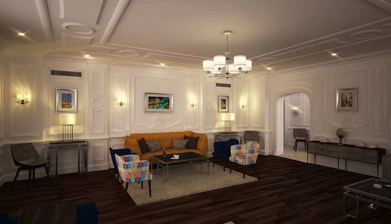:  غرفة المعيشة تنفيذ SIGMA Designs, كلاسيكي