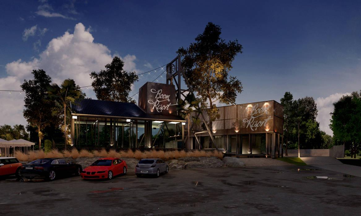 Boom Resort :  ห้องทานข้าว by ramรับออกแบบตกแต่งภายใน