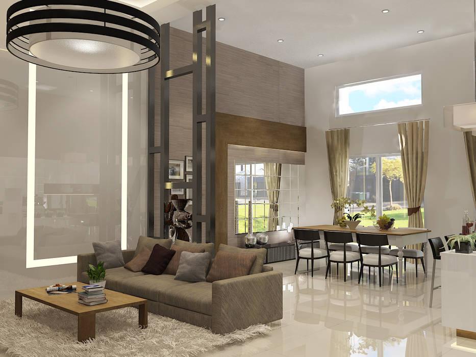 Living Room Ruang Keluarga Modern Oleh PEKA INTERIOR Modern Kaca