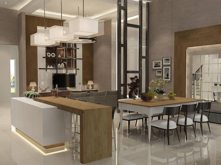 Living Room: Ruang Makan oleh AIRE INTERIOR ,