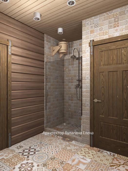 Ванная : Ванные комнаты в . Автор – Архитектурное Бюро 'Капитель',