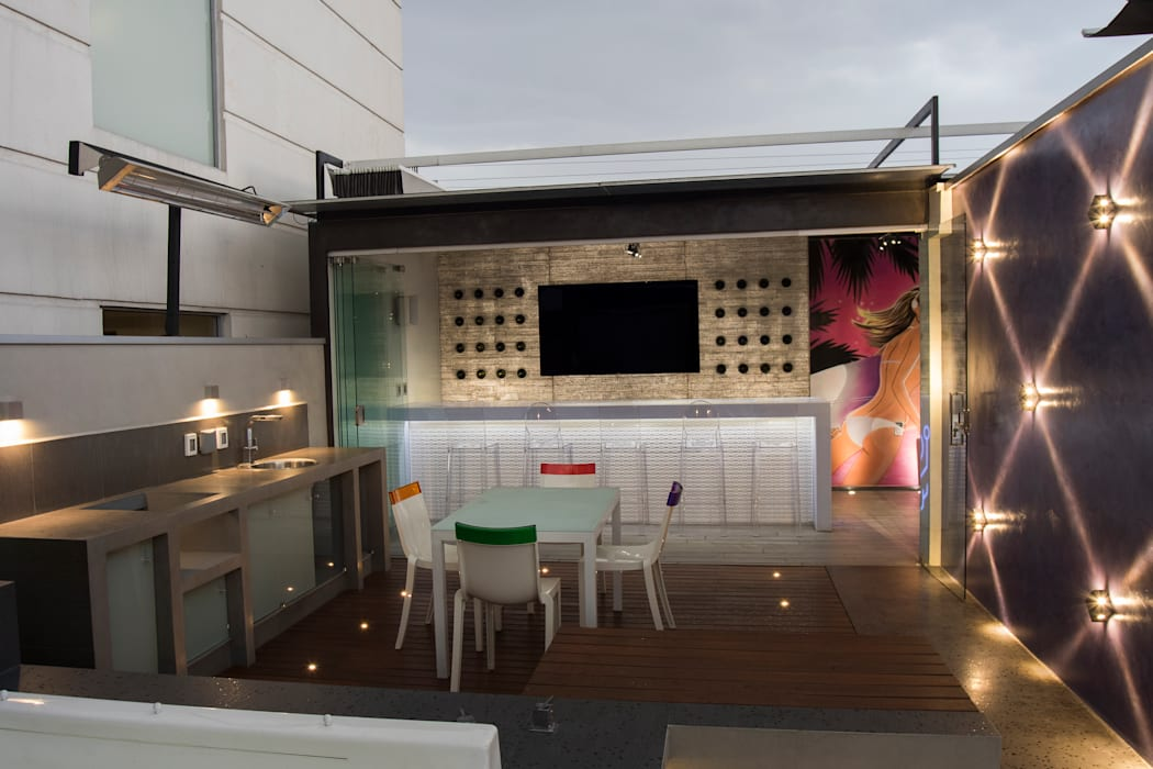 Modern balcony, veranda & terrace by STUDIO COCOONS Modern