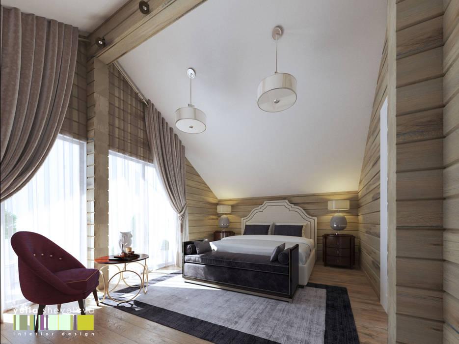 СЕВЕРНАЯ СКАЗКА : Спальни в . Автор – Мастерская интерьера Юлии Шевелевой