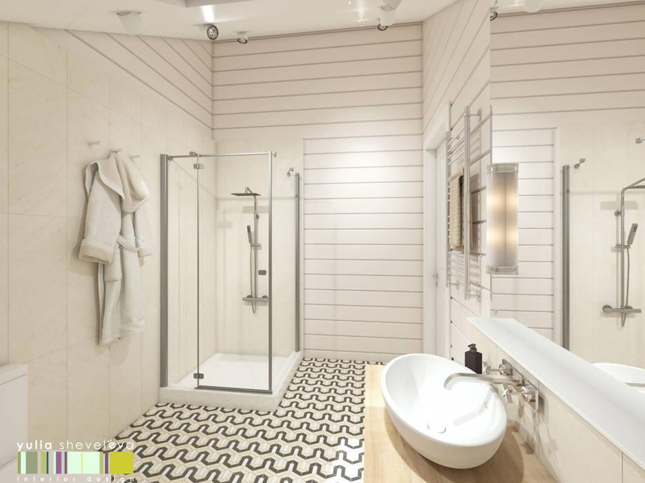 СЕВЕРНАЯ СКАЗКА : Ванные комнаты в . Автор – Мастерская интерьера Юлии Шевелевой