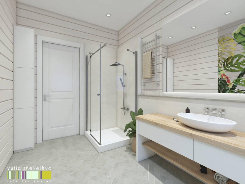 СЕВЕРНАЯ СКАЗКА : Ванные комнаты в . Автор – Мастерская интерьера Юлии Шевелевой,