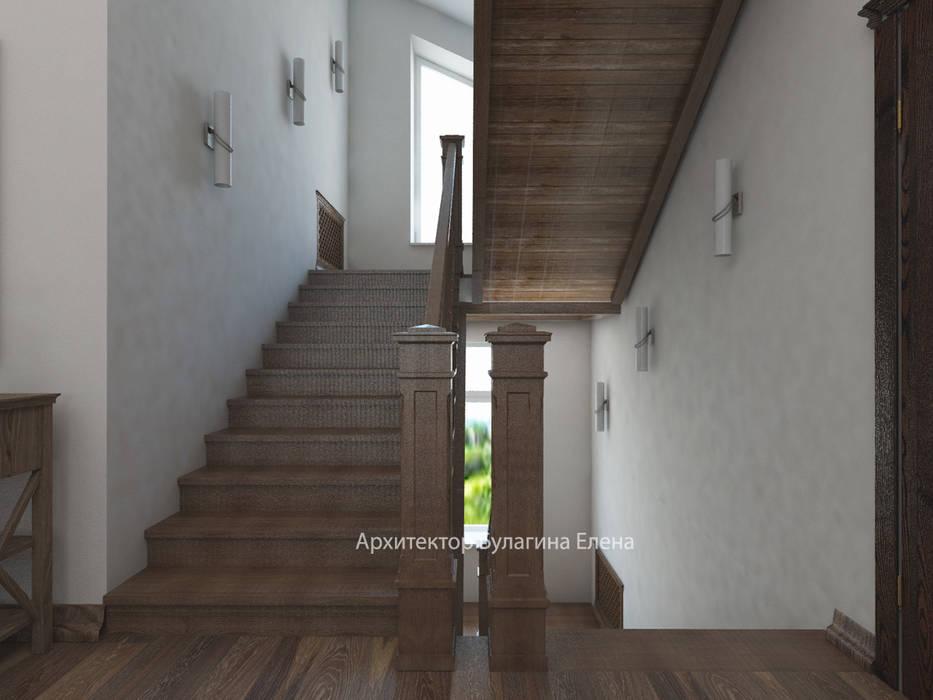 Лестница: Коридор и прихожая в . Автор – Архитектурное Бюро 'Капитель'