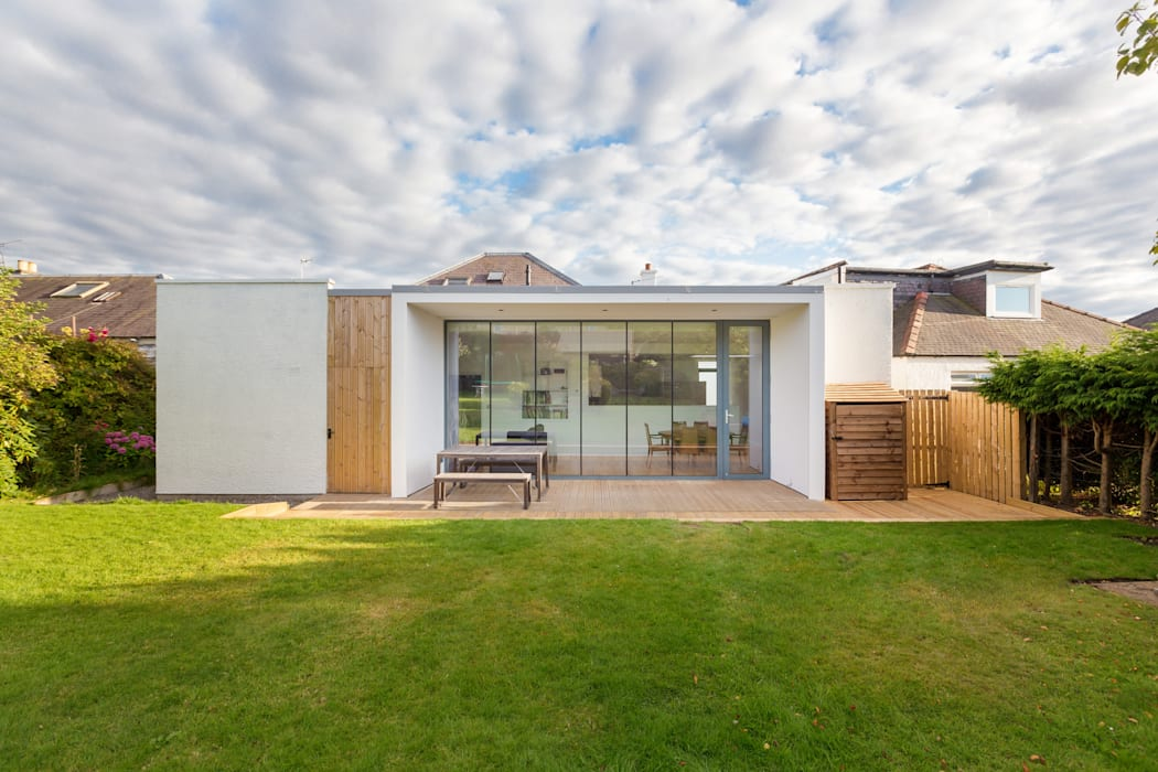 Contemporary Extension to the rear of a suburban semi-detached house, Edinburgh :  Detached home by Capital A Architecture