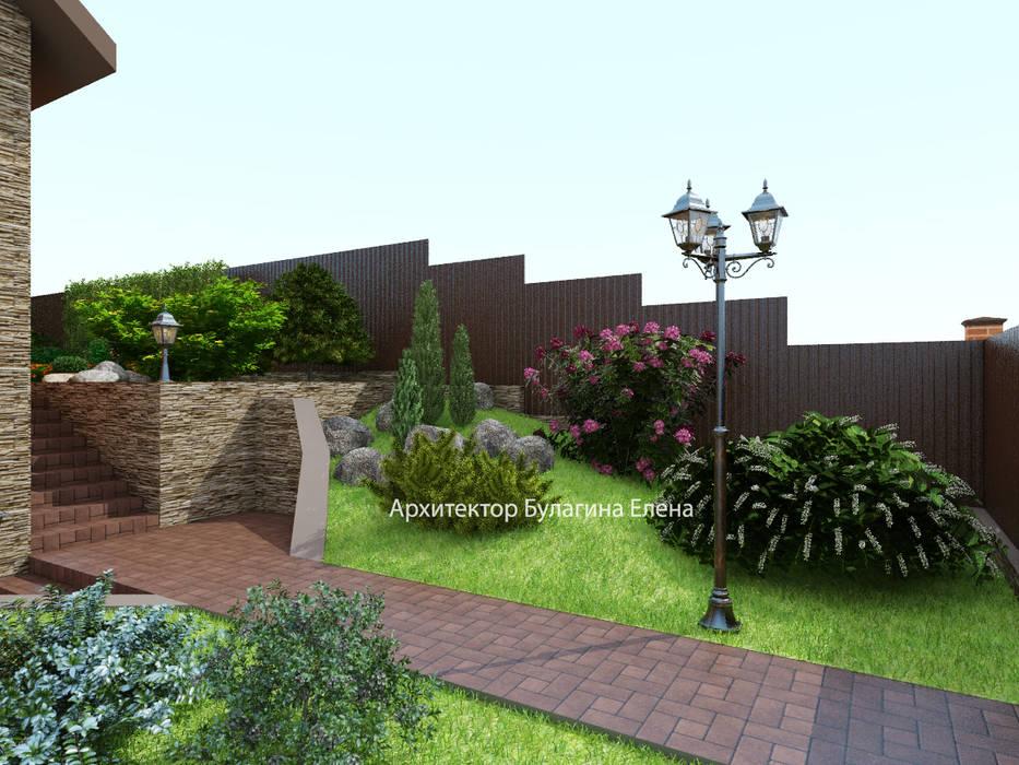Ландшафт загородного дома: Загородные дома в . Автор – Архитектурное Бюро 'Капитель'