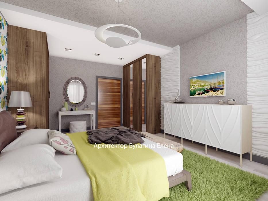 Спальня: Спальни в . Автор – Архитектурное Бюро 'Капитель'