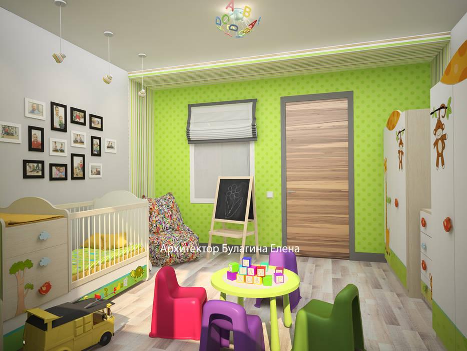 Детская: Детские комнаты в . Автор – Архитектурное Бюро 'Капитель',