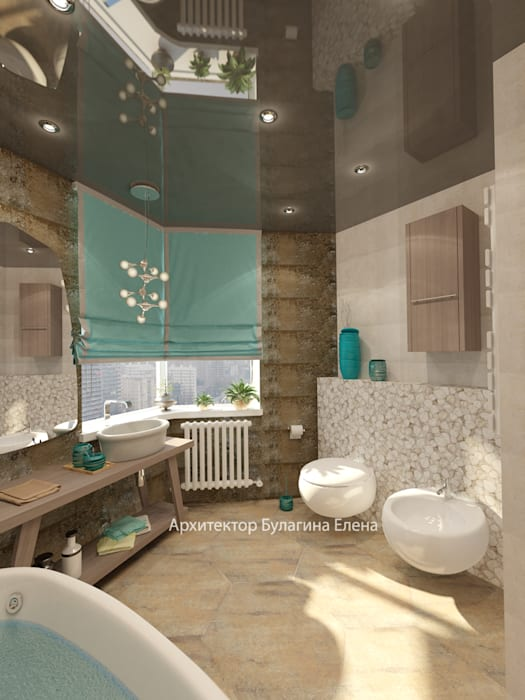 Ванная: Ванные комнаты в . Автор – Архитектурное Бюро 'Капитель',