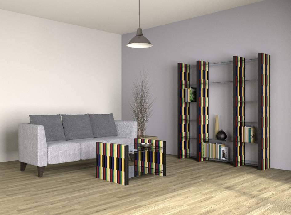 MY REGAL: modern  von Architekturbüro Michael Bidner,Modern Holz Holznachbildung