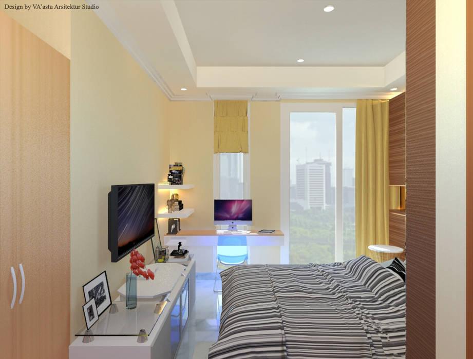 Guest Bedroom - Apartment Sudirman Area Kamar Tidur Modern Oleh Vaastu Arsitektur Studio Modern