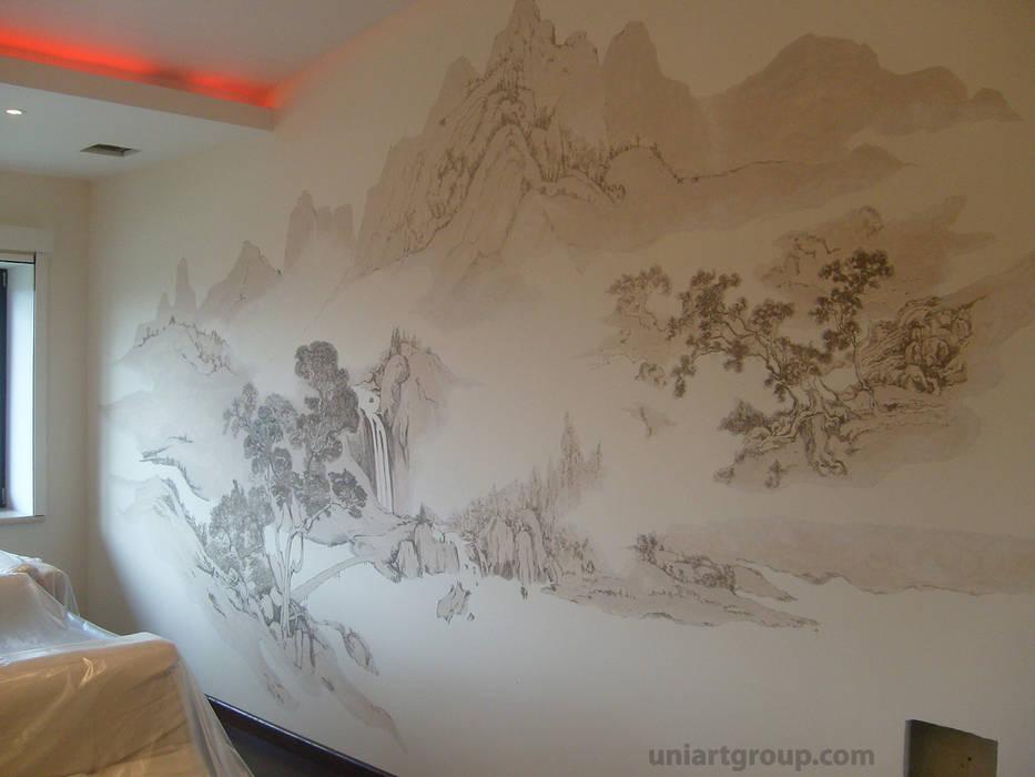 Роспись в японском стиле.: Спальни в . Автор – Art Universal Group