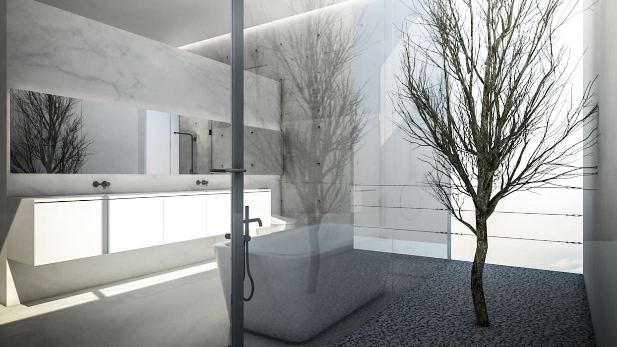 Minimalist style bathroom by KERA Design Studio Minimalist