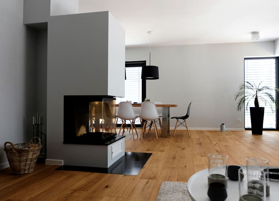 Wohnbereich / übergang essplatz moderne wohnzimmer von ...