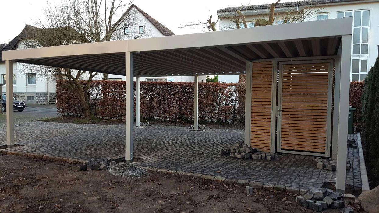 Offenes Stahlcarport Seitenansicht:  Carport von Carport-Schmiede GmbH + Co. KG