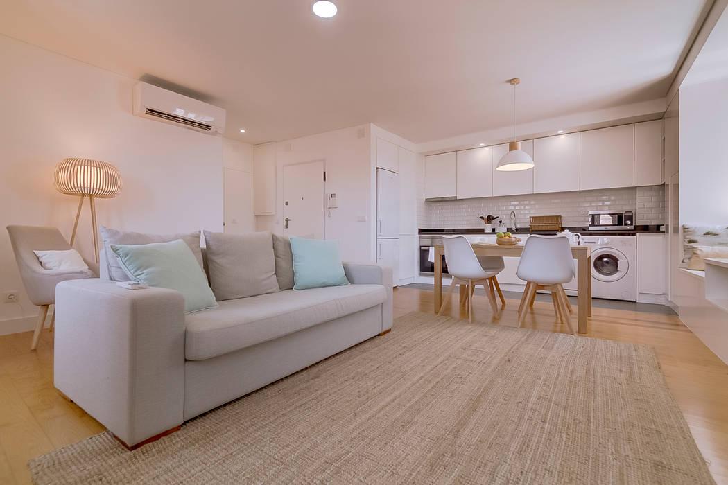 Apartamentos Alfama / Lisboa - Apartments in Alfama / Lisbon Ivo Santos Multimédia Salas de estar modernas