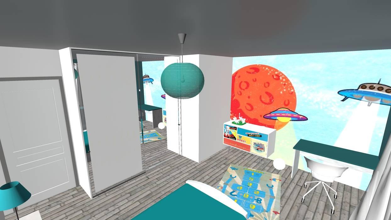 Agencement et d coration d 39 une ferme chambre d enfant de style par relion conception homify - Agencement chambre enfant ...