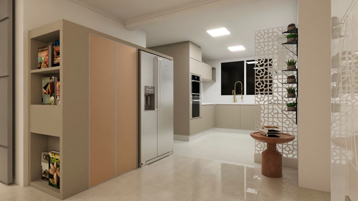 by Flávia Kloss Arquitetura de Interiores Modern MDF