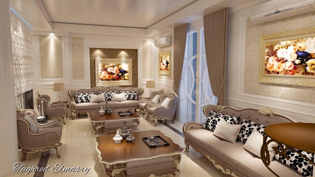 غرفة استقبال من Taghred elmasry كلاسيكي