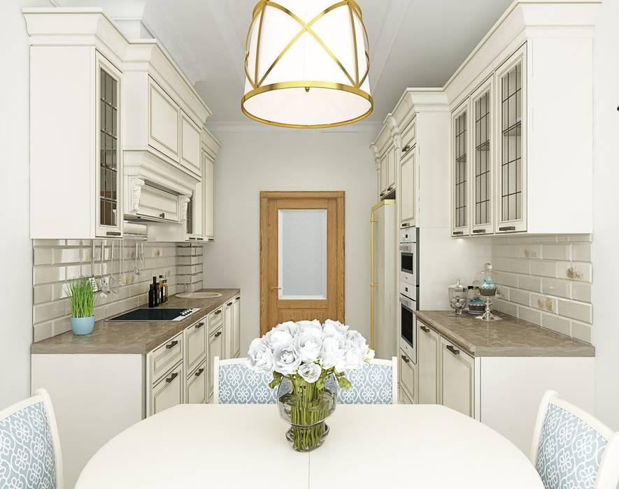 3к.кв. в ЖК Липки Парк Хаус (93 кв.м): Кухни в . Автор – ДизайнМастер