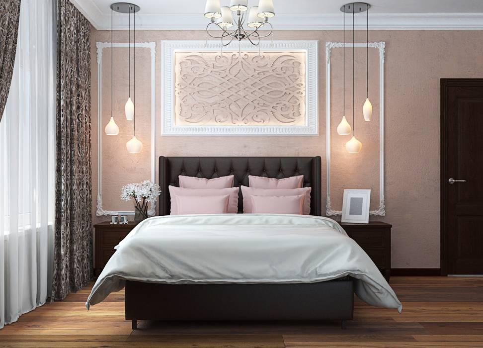 3к.кв. в ЖК Липки Парк Хаус (93 кв.м): Спальни в . Автор – ДизайнМастер,