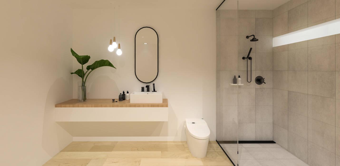 Baños de estilo minimalista de KERA Design Studio Minimalista