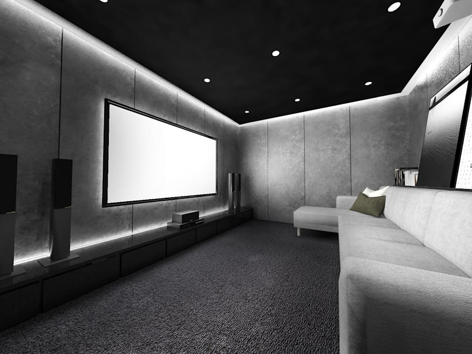 Mutiara Palace: Ruang Multimedia oleh KERA Design Studio, Modern