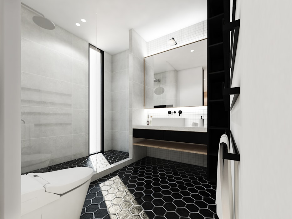 Mutiara Palace KERA Design Studio Kamar Mandi Modern