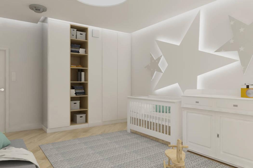 Sypialnia I Pokój Dziecięcy W Stylu Nowoczesnym Styl W