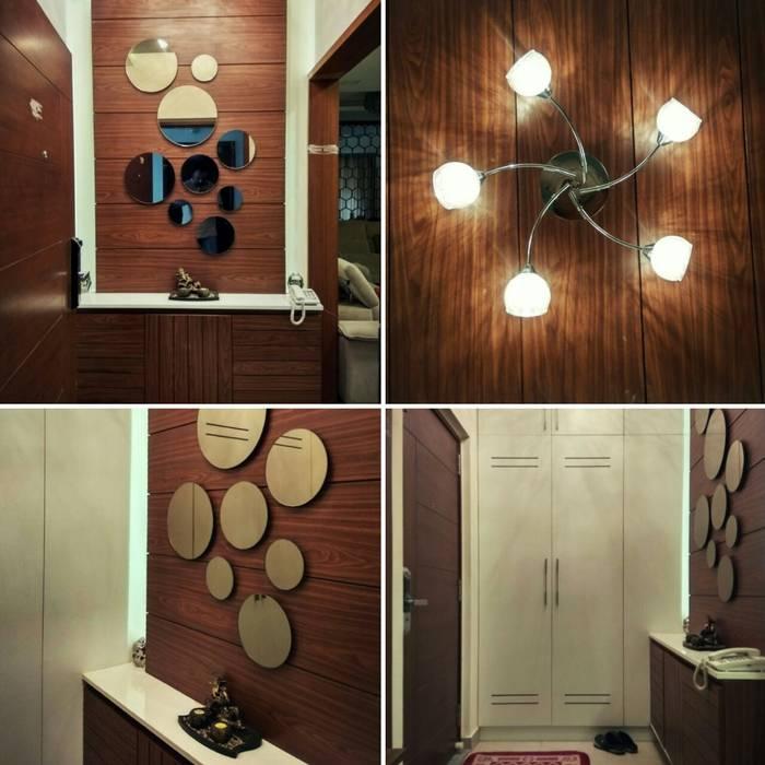 Living Room decor Modern living room by WOODLIFE INTERIOR PRIVATE LTD Modern Glass