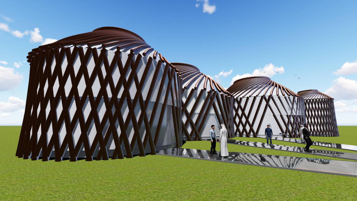 Exhibition centres by Sarissa Proje Tasarım, Mediterranean Wood-Plastic Composite